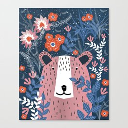 Bear Garden Canvas Print