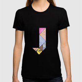 Collaged Tangram Alphabet - J T-shirt