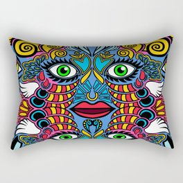i prob should stop playing with ms paint and eyeballs Rectangular Pillow
