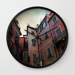 windows of Cinque Terre Wall Clock
