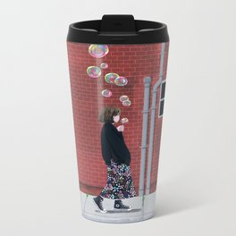 Bubble Girl Metal Travel Mug
