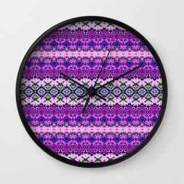 Dainty Purple Banded Lace Wall Clock