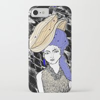 hats iPhone & iPod Cases featuring Hats by Madame Mim