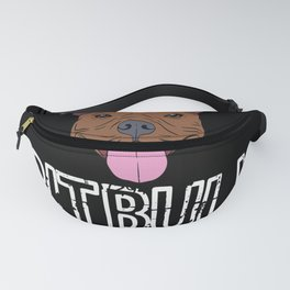 Pitbull Dog Breed Paws Owner Fur Garment Fanny Pack