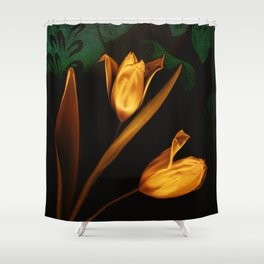 Tulips of the golden age Shower Curtain