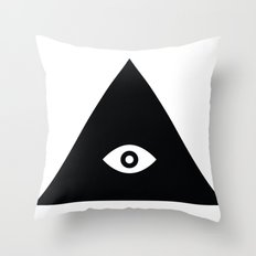 Tri-Eye Throw Pillow