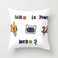 hero Throw Pillows featuring hero by Katharina Nachher