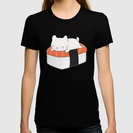 Kawaii Cute Sushi Cat T-shirt