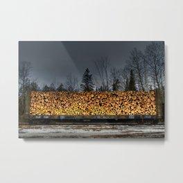 'Log Car' Metal Print
