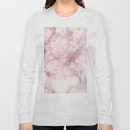 Elegant rose faux gold pink gray luxury marble pattern Long Sleeve T-shirt