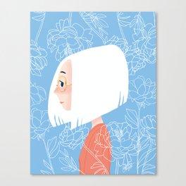 White Haired Girl YUKI Canvas Print