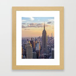 Empire State Building, New York Framed Art Print