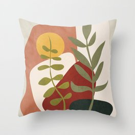 Two Abstract Branches Throw Pillow