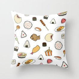 Popular Japanese Food Throw Pillow