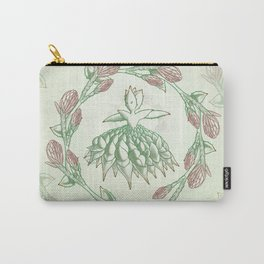 Succulent Sprite - spiral aloe Carry-All Pouch