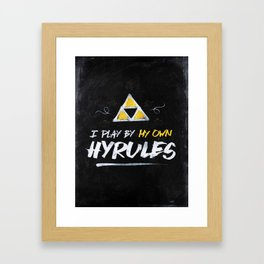 Legend of Zelda Inspired Type I Play by My Own Hyrules Framed Art Print