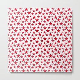 Red stars on white background illustration Metal Print