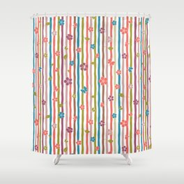 Colorful Stripes Spring Impromptu Collection Shower Curtain