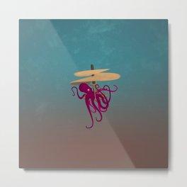 Flying Octopus Metal Print