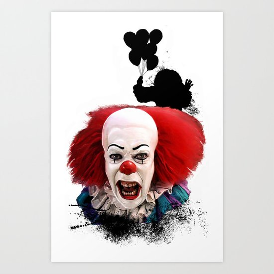 Pennywise the Clown: Monster Madness Series Art Print