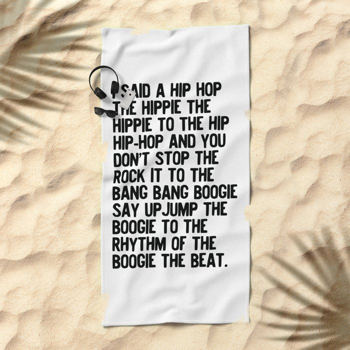 RAPPERS DELIGHT Hip Hop CLASSIC MUSIC Beach Towel