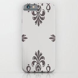 Roccoco Ornaments grey iPhone Case