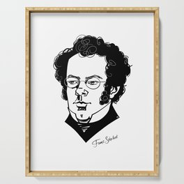 Franz Schubert Serving Tray
