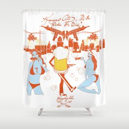 "KCMO ""Ride or Die"" Shower Curtain"