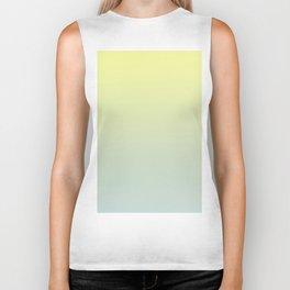 PARADISE COME - Minimal Plain Soft Mood Color Blend Prints Biker Tank