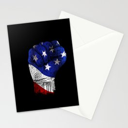 America Fist American Flag product Gift for USA Patriots Stationery Cards