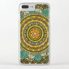Malachite Baroque Mandala Clear iPhone Case