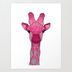 Face Me Pink Art Print