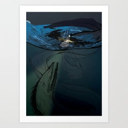 Abaia The Great Eel Art Print