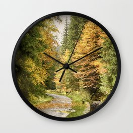 The colours of life IV Wall Clock