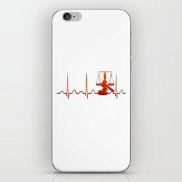 JUDGE HEARTBEAT iPhone Skin