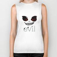 evil Biker Tanks featuring Evil by Timkirman