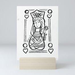 Queen Of Hearts by Riendo Mini Art Print
