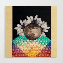 Beyond the moon and back Wood Wall Art