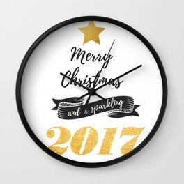 Merry Christmas and a sparkling 2017 Wall Clock