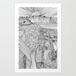 Line drawing 2 Art Print