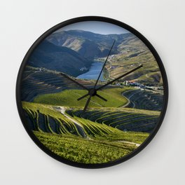 Vineyards in the Douro Valley, Pinhao Wall Clock