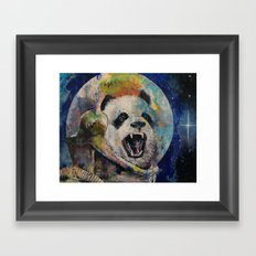 Space Panda Framed Art Print