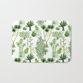 Green jungle pattern Bath Mat