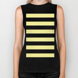 Simply Stripes in Pastel Yellow Biker Tank