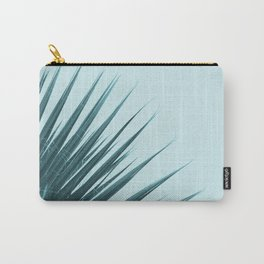 Blue Palm Leaf Carry-All Pouch