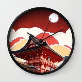 Night in Japan II Wall Clock