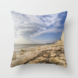 White Cliffs Of England Throw Pillow