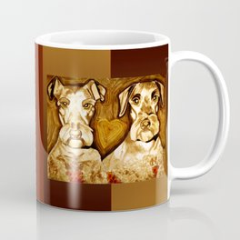 Brother Dogs Bronze Coffee Mug