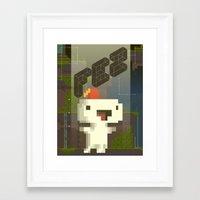 fez Framed Art Prints featuring FEZ: Gomez by Retro Zombie