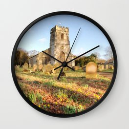 Spring Churchyard Wall Clock